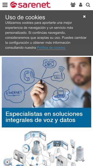 Mobile preview of sarenet.es