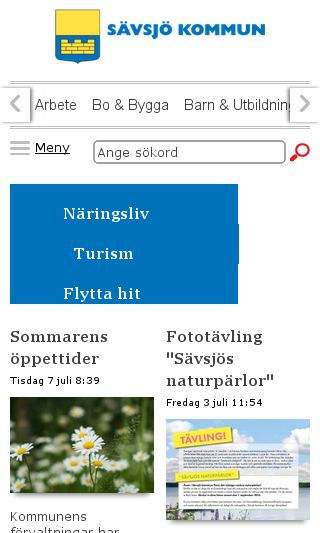 Mobile preview of savsjo.se