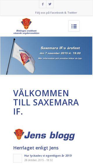 Mobile preview of saxemaraif.se