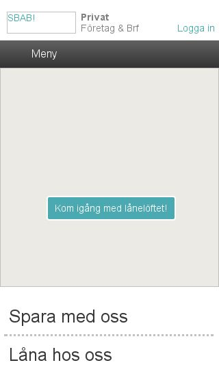 Mobile preview of sbab.se