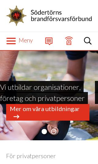Mobile preview of sbff.se
