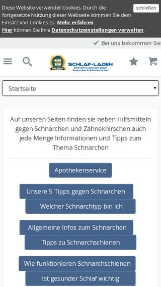 Mobile preview of schlaf-laden.de