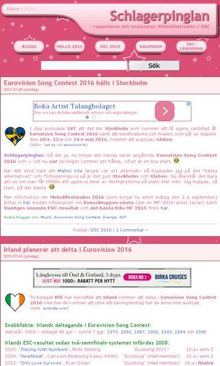 Mobile preview of schlagerpinglan.se
