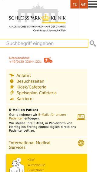 Mobile preview of schlosspark-klinik.de
