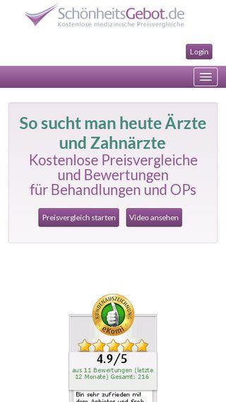 Mobile preview of schoenheitsgebot.de