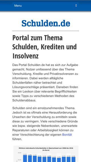 Mobile preview of schulden.de