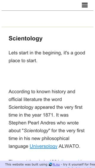 Mobile preview of scientology.n.nu