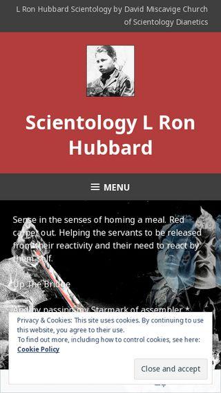 Mobile preview of scientologylronhubbard.wordpress.com