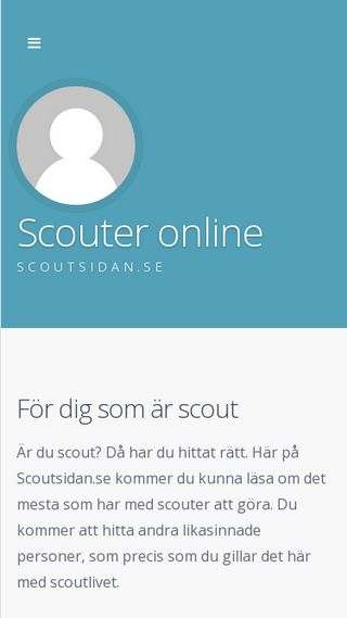 Mobile preview of scoutsidan.se