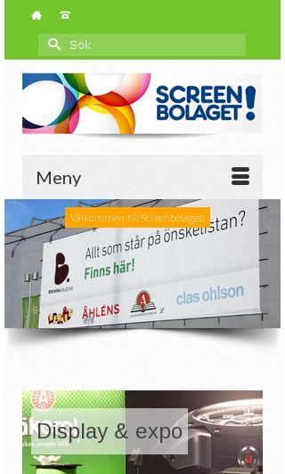 Mobile preview of screenbolaget.se