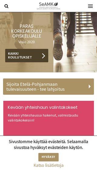 Mobile preview of seamk.fi