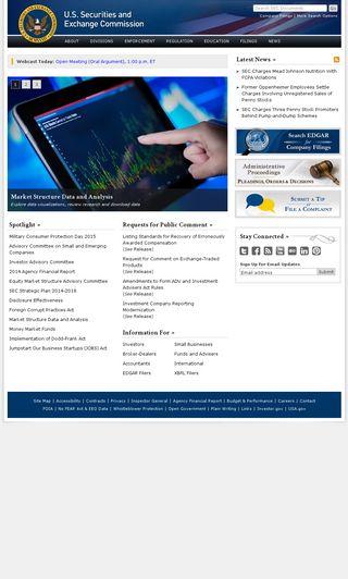 Mobile preview of sec.gov