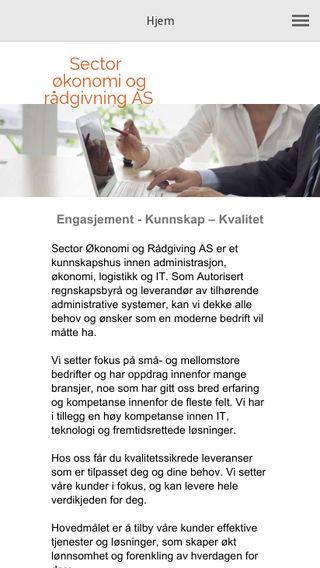 Mobile preview of sectorregnskap.no