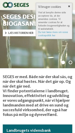 Mobile preview of seges.dk