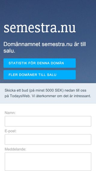 Mobile preview of semestra.nu