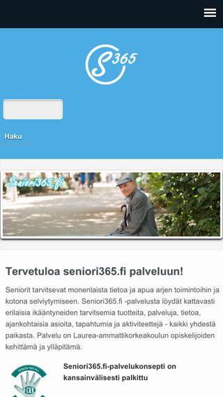 Mobile preview of seniori365.fi