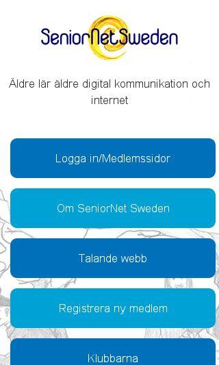 Mobile preview of seniornet.se
