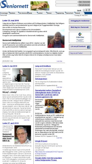 Mobile preview of seniornett.no