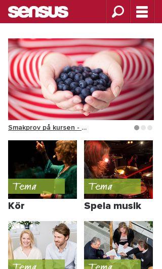 Mobile preview of sensus.se