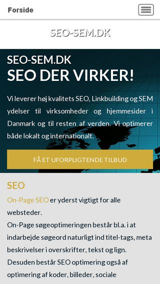 Mobile preview of seo-sem.dk