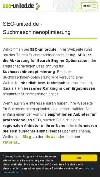 Mobile preview of seo-united.de