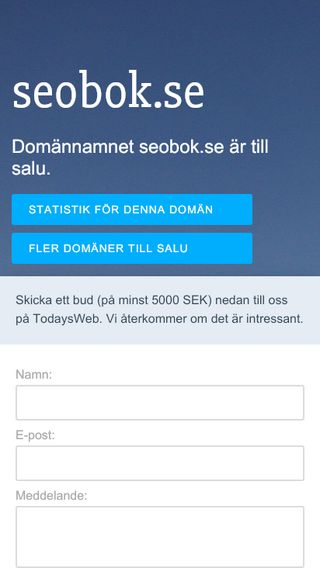 Mobile preview of seobok.se