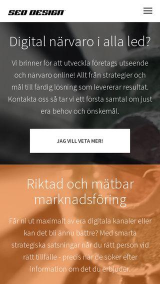 Mobile preview of seodesign.se