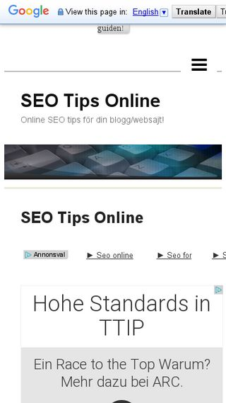 Mobile preview of seotipsonline.n.nu
