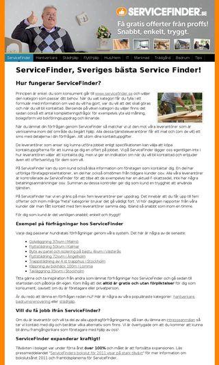 Mobile preview of servicefinder.nu