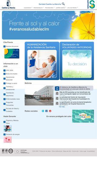 Mobile preview of sescam.jccm.es