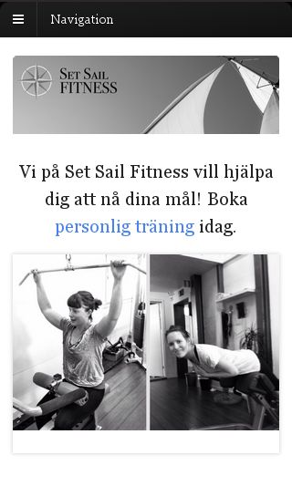 Mobile preview of setsailfitness.se