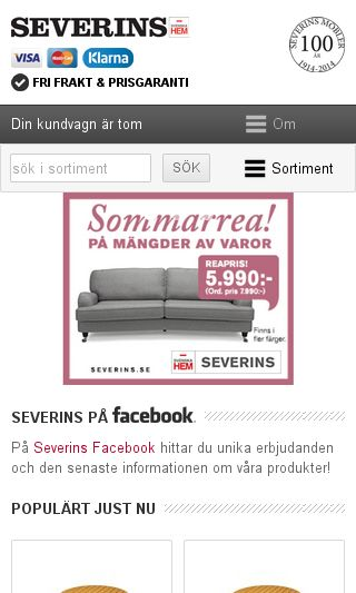 Mobile preview of severins.se