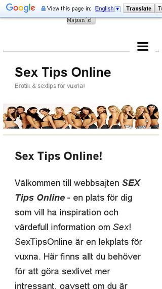 Mobile preview of sextipsonline.n.nu