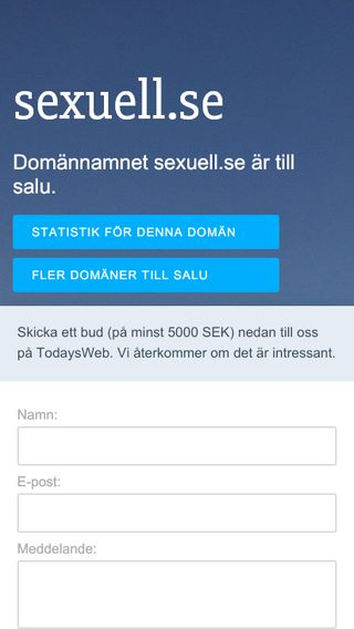 Mobile preview of sexuell.se