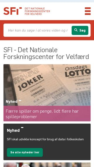 Mobile preview of sfi.dk