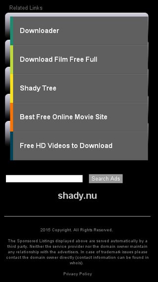 Mobile preview of shady.nu