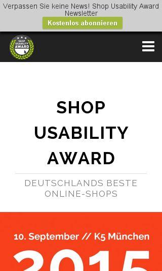 Mobile preview of shop-usability-award.de