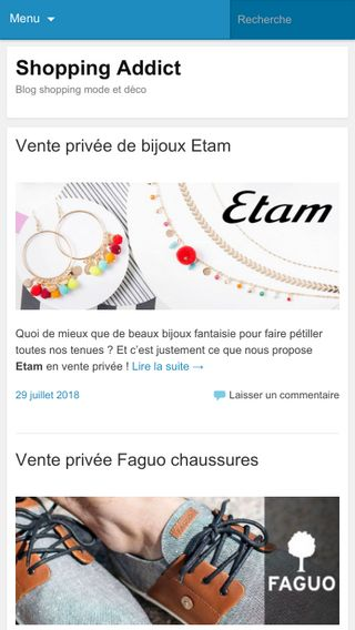 Mobile preview of shoppingaddict.fr