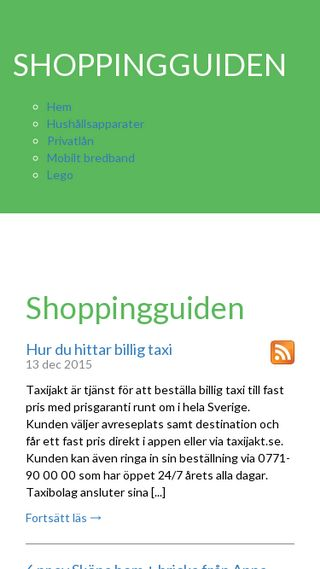 Mobile preview of shoppingguiden.n.nu