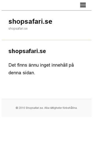 Mobile preview of shopsafari.se