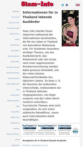 Mobile preview of siam-info.de