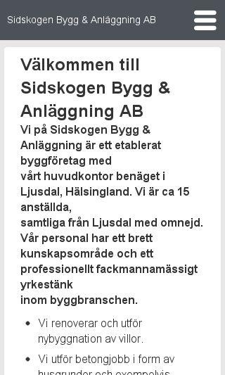 Mobile preview of sidskogenbygg.se