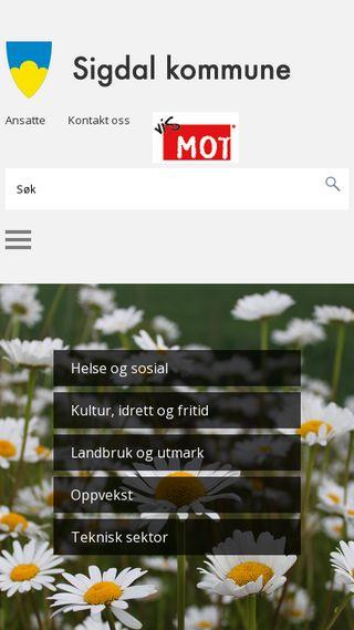 Mobile preview of sigdal.kommune.no