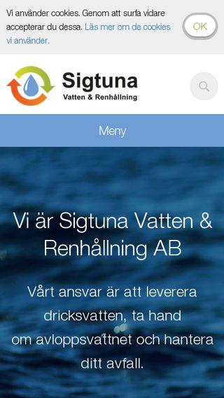 Mobile preview of sigtunavatten.se