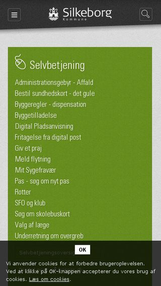 Mobile preview of silkeborg.dk