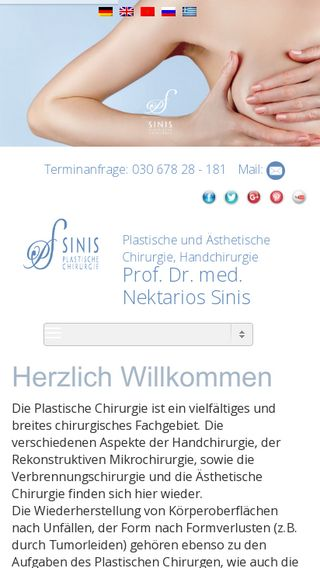Mobile preview of sinis-plastische-chirurgie.de