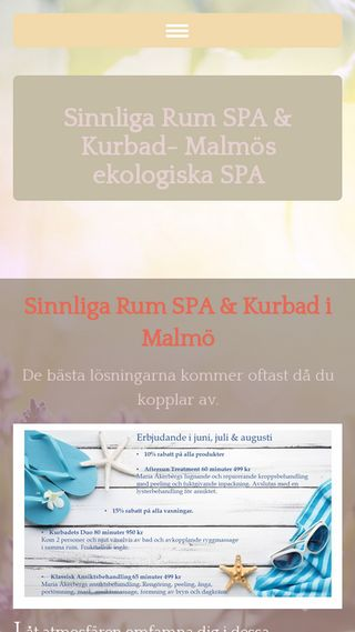 Mobile preview of sinnligarumspa.se