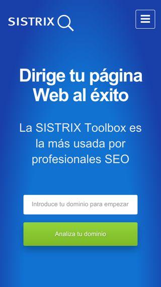 Mobile preview of sistrix.es