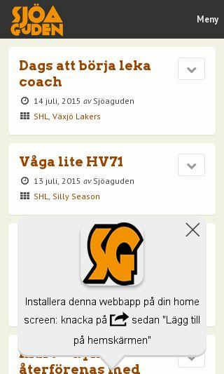 Mobile preview of sjoaguden.se