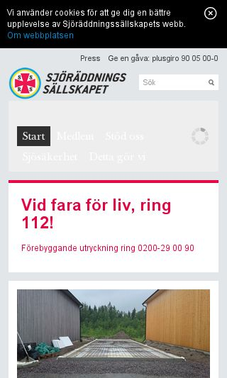 Mobile preview of sjoraddning.se